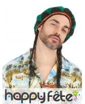 Perruque rasta avec bonnet brodé