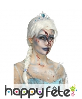 Perruque reine des neiges zombie pour adulte