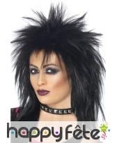 Perruque rock diva noire ou grise