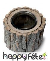 Photophore rondin de bois