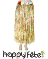 Pagne raphia long multicolor