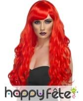 Perruque rouge longues boucles