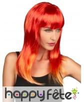 Perruque rouge reflets orange, image 1