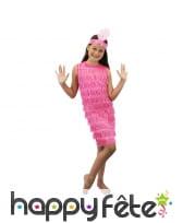 Petite robe rose style charleston pour enfant