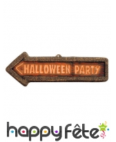 Panneau signalétique halloween party