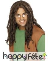 Perruque style reggae brune