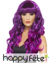 Perruque sirène violette