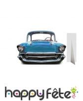 Passe-tête ancienne voiture bleue, taille enfant