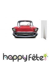 Passe-têtes ancienne voiture rouge, taille enfant