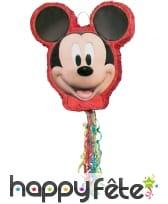 Pinata tête de Mickey Mouse à franges de 50 cm