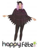 Poncho toile d'araignée violette pour adulte