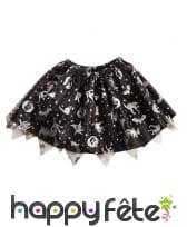 Petit tutu noir avec imprimés halloween argentés, image 1