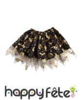 Petit tutu noir avec imprimés halloween dorés, image 1