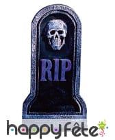 Pierre tombale Rip avec visage squelette 20x40cm