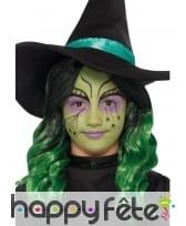 Perruque verte de petite sorcière, image 1