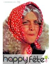 Perruque vieille dame avec foulard