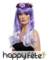 Perruque violette dia de los muertos, image 1
