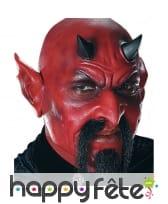 Prothèse visage de diable, en mousse