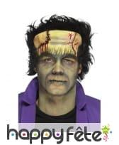 Prothèse visage de Frankenstein en mousse de latex