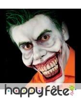 Prothèse visage de joker, en mousse