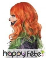 Perruque verte et rousse pour femme, image 1