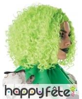 Perruque verte frisée pour adulte, image 1