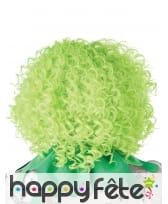 Perruque verte frisée pour adulte, image 2