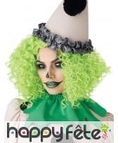 Perruque verte frisée pour adulte, image 3
