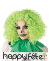 Perruque verte frisée pour adulte