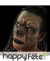Prothèse visage intégral de singe