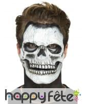 Postiche visage squelette en mousse de latex, image 4