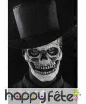 Postiche visage squelette en mousse de latex, image 5