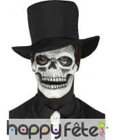 Postiche visage squelette en mousse de latex