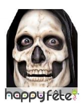 Prothèse visage squelette en mousse