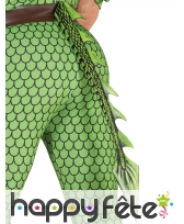 Queue de dragon effet écailles vertes latex 29cm
