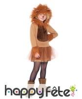 Robe à capuche de lionne pour enfant, image 1