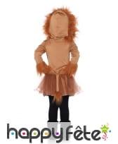 Robe à capuche de lionne pour enfant, image 2