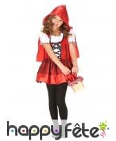 Robe à capuche petit chaperon rouge enfant
