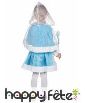 Robe avec cape de princesse des neiges pour enfant, image 2