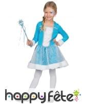 Robe avec cape de princesse des neiges pour enfant, image 3