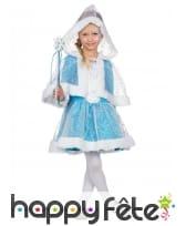 Robe avec cape de princesse des neiges pour enfant, image 5