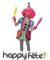 Robe arc-en-ciel de clown pour enfant