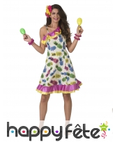 Robe ananas multicolore pour adulte