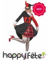 Robe arlequin rouge et noire pour femme, image 1
