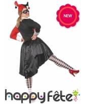 Robe arlequin rouge et noire pour femme, image 2
