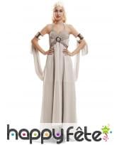 Robe blanc cassé de Daenerys Targaryen pour femme