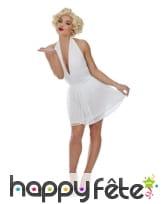 Robe blanche courte de Marilyn Monroe