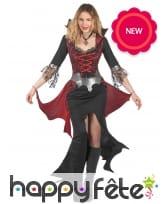 Robe baroque de femme vampire