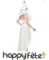 Robe blanche de Cygne queue de pie avec coiffe, image 1