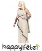 Robe blanche de déesse romaine avec cape, image 2